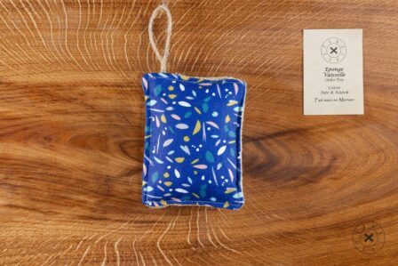 Tawachou - Création Zéro Déchets eponge vaisselle oiseau bleu 1