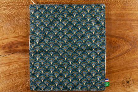 Tawachou - Création Zéro Déchets essuie mains eventail bleu 1