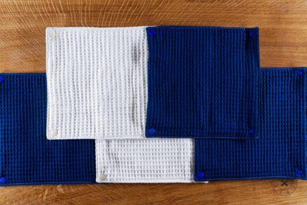 Tawachou - Création Zéro Déchets essuie tout lavable bleu et or 1