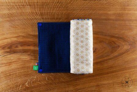 Tawachou - Création Zéro Déchets essuie tout lavable bleu et or 2