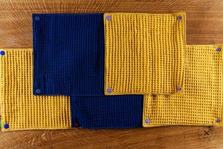 Tawachou - Création Zéro Déchets essuie tout lavable printemps bleu 1