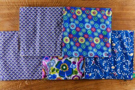 Tawachou - Création Zéro Déchets essuie tout lavable printemps bleu
