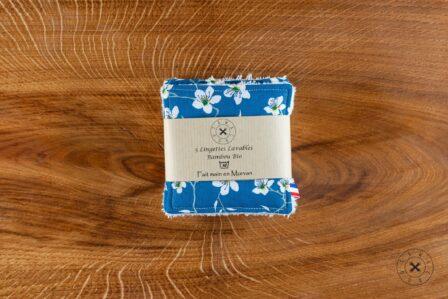 Tawachou - Création Zéro Déchets lingettes demaquillantes lavables x5 amandier bleu 2