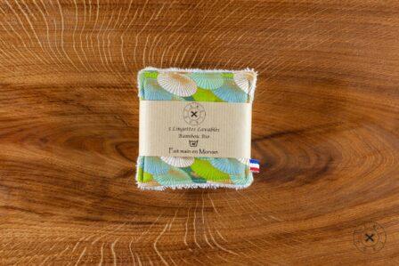 Tawachou - Création Zéro Déchets lingettes demaquillantes lavables x5 douceur du japon vert 2