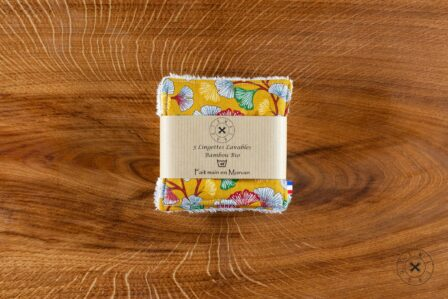 Tawachou - Création Zéro Déchets lingettes demaquillantes lavables x5 legerete jaune 2
