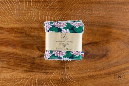 Tawachou - Création Zéro Déchets lingettes demaquillantes lavables x5 lotus 2