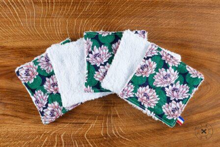 Tawachou - Création Zéro Déchets lingettes demaquillantes lavables x5 lotus