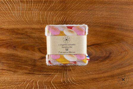 Tawachou - Création Zéro Déchets lingettes demaquillantes lavables x7 fleur saumon 2