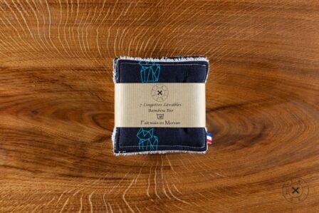 Tawachou - Création Zéro Déchets lingettes demaquillantes lavables x7 renard marine 2