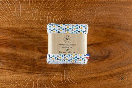 Tawachou - Création Zéro Déchets lingettes demaquillantes lavables x7 triangle tricolore 2