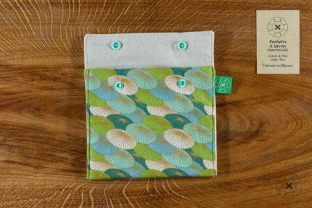 Tawachou - Création Zéro Déchets pochette a savon japon vert