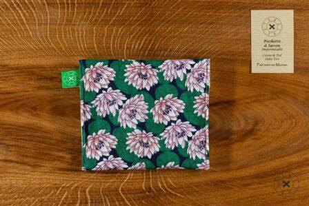 Tawachou - Création Zéro Déchets pochette a savon lotus 1