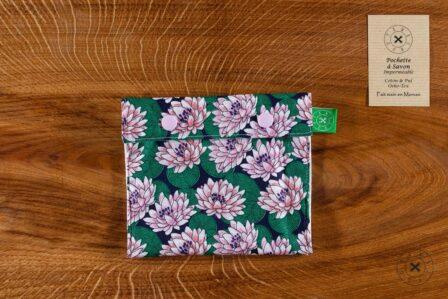 Tawachou - Création Zéro Déchets pochette a savon lotus