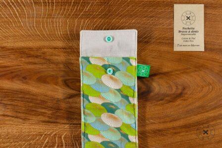 Tawachou - Création Zéro Déchets pochette brosse a dents japon vert