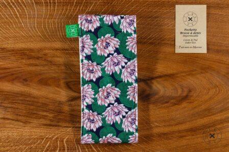 Tawachou - Création Zéro Déchets pochette brosse a dents lotus 1