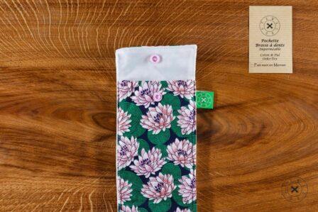 Tawachou - Création Zéro Déchets pochette brosse a dents lotus