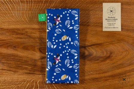 Tawachou - Création Zéro Déchets pochette brosse a dents oiseau 1