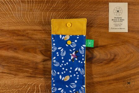 Tawachou - Création Zéro Déchets pochette brosse a dents oiseau