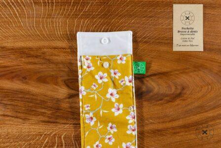 Tawachou - Création Zéro Déchets pochette brosse a dents printemps jaune