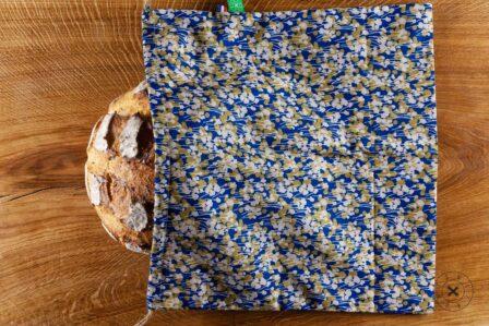Tawachou - Création Zéro Déchets sac a pain boule bleu
