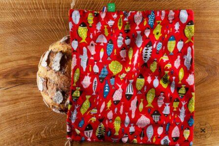 Tawachou - Création Zéro Déchets sac a pain boule poissons