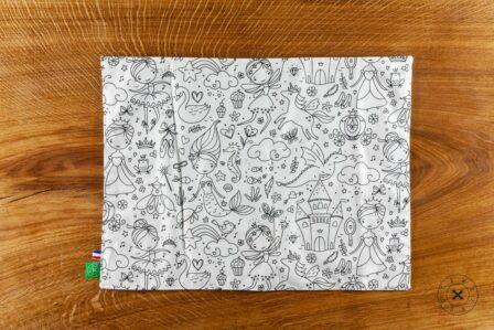 Tawachou - Création Zéro Déchets set de table a colorier lavable jungle et princesses