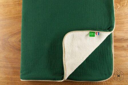 Tawachou - Création Zéro Déchets Couverture Enfant vert foret
