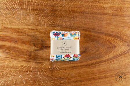 Tawachou - Création Zéro Déchets lingettes lavables chouettes vacances 2