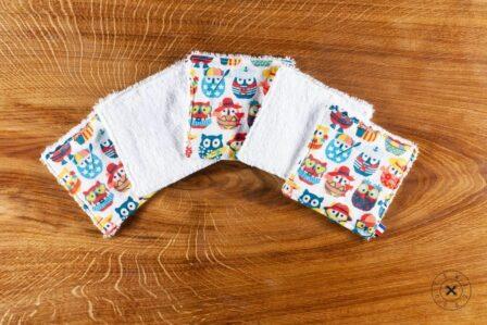 Tawachou - Création Zéro Déchets lingettes lavables chouettes vacances