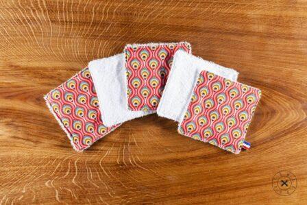 Tawachou - Création Zéro Déchets lingettes lavables indien rouge