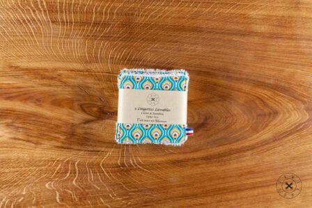 Tawachou - Création Zéro Déchets lingettes lavables indien turquoise 2
