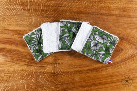 Tawachou - Création Zéro Déchets lingettes lavables jungle verte