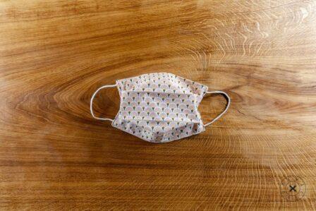 Tawachou - Création Zéro Déchets masque lavable tissu eventail rose